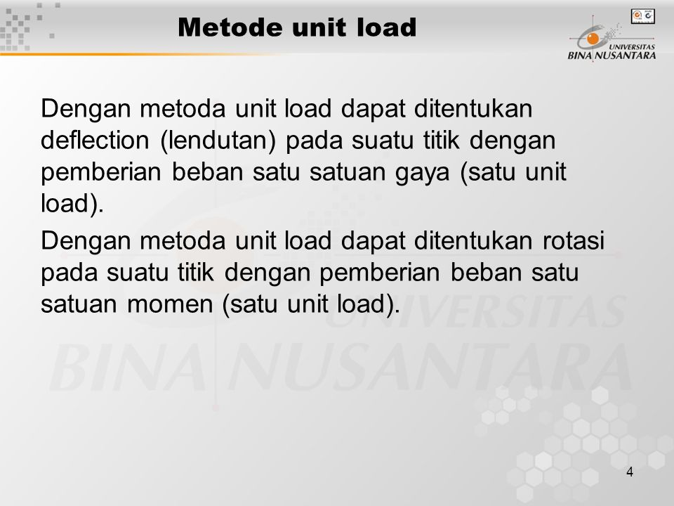 Metode unit load