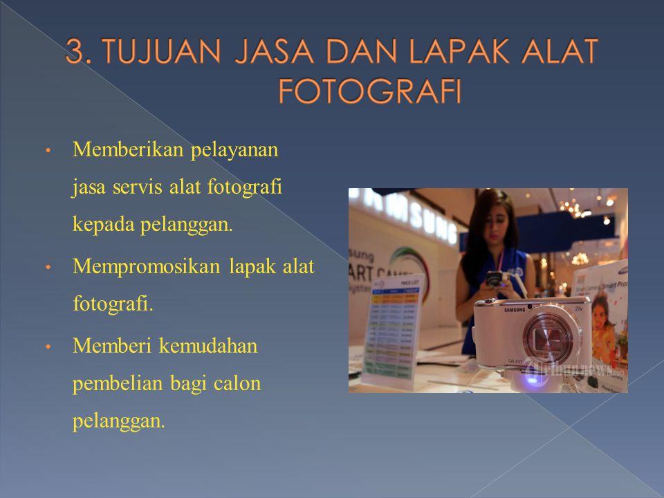 3. TUJUAN JASA DAN LAPAK ALAT FOTOGRAFI