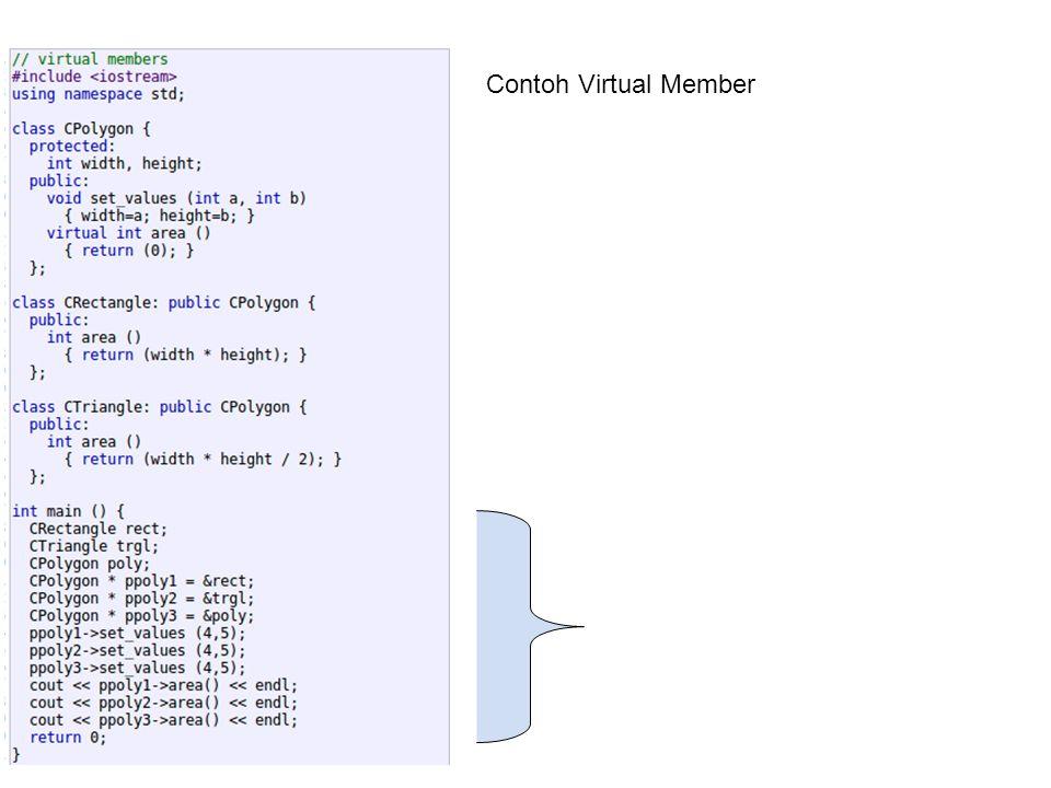 Contoh Virtual Member