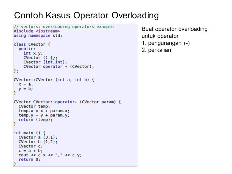 Contoh Kasus Operator Overloading