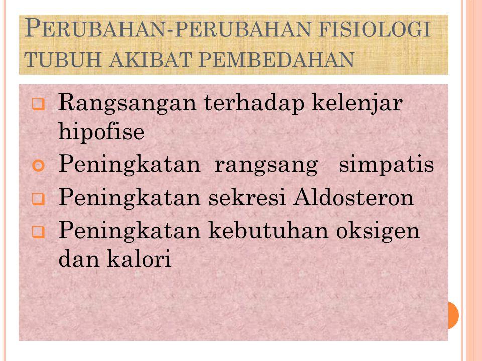 Perubahan-perubahan fisiologi tubuh akibat pembedahan