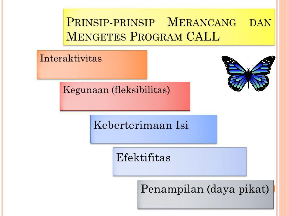 Prinsip-prinsip Merancang dan Mengetes Program CALL