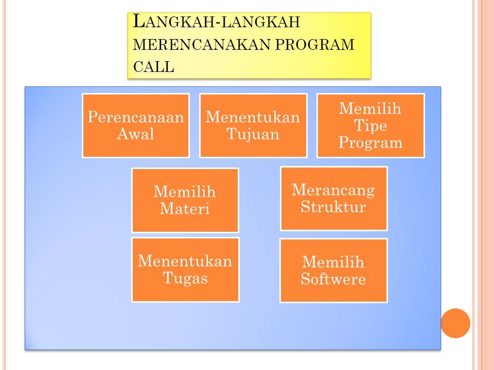 Langkah-langkah merencanakan program call