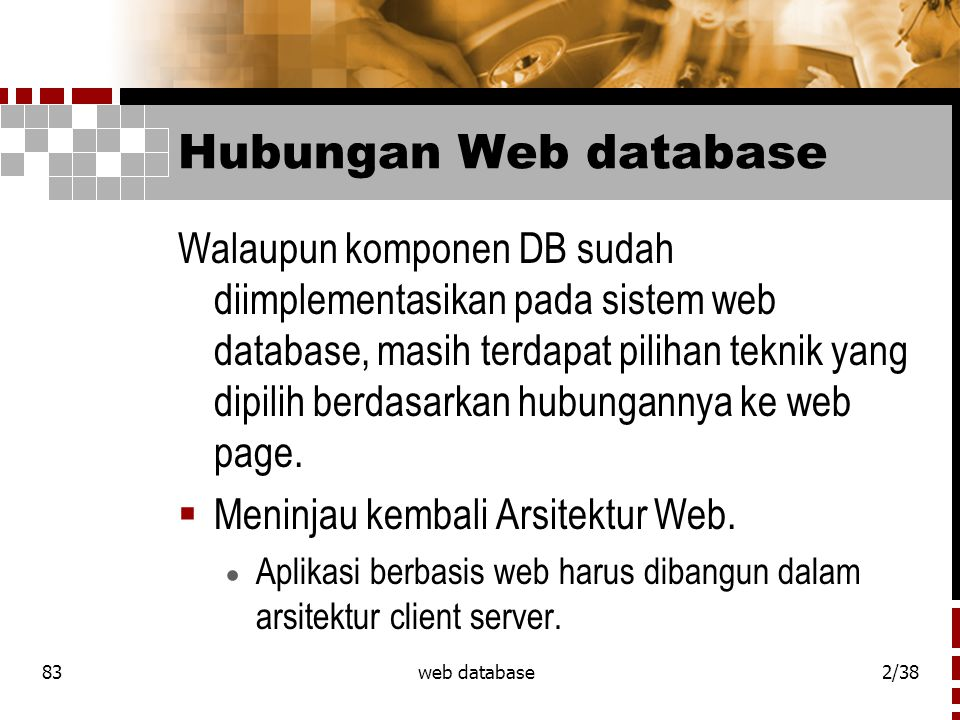 Hubungan Web database