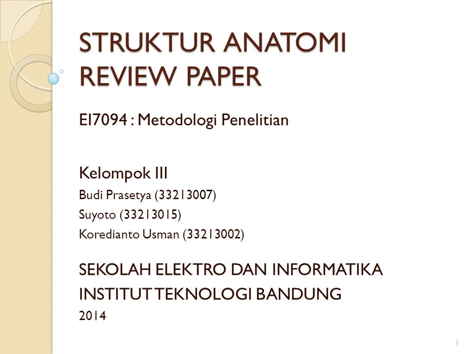 STRUKTUR ANATOMI REVIEW PAPER