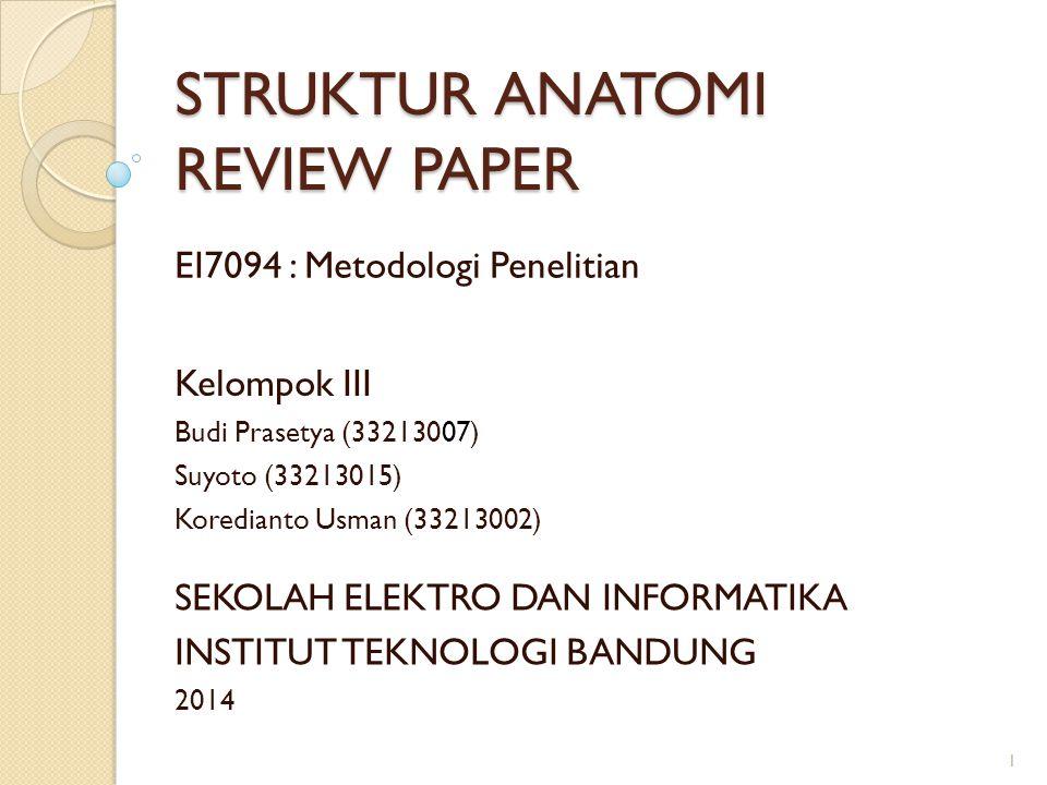 STRUKTUR ANATOMI REVIEW PAPER
