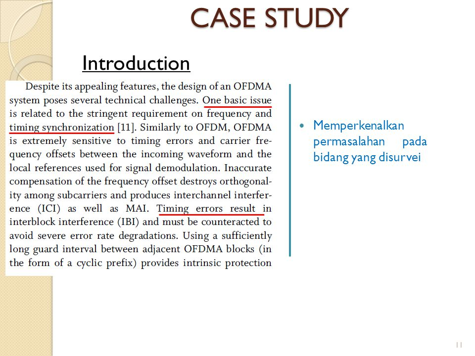 CASE STUDY Introduction