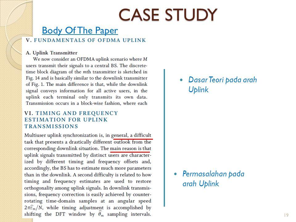 CASE STUDY Body Of The Paper Dasar Teori pada arah Uplink