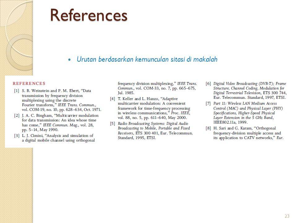References Urutan berdasarkan kemunculan sitasi di makalah