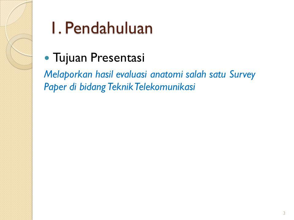 1. Pendahuluan Tujuan Presentasi