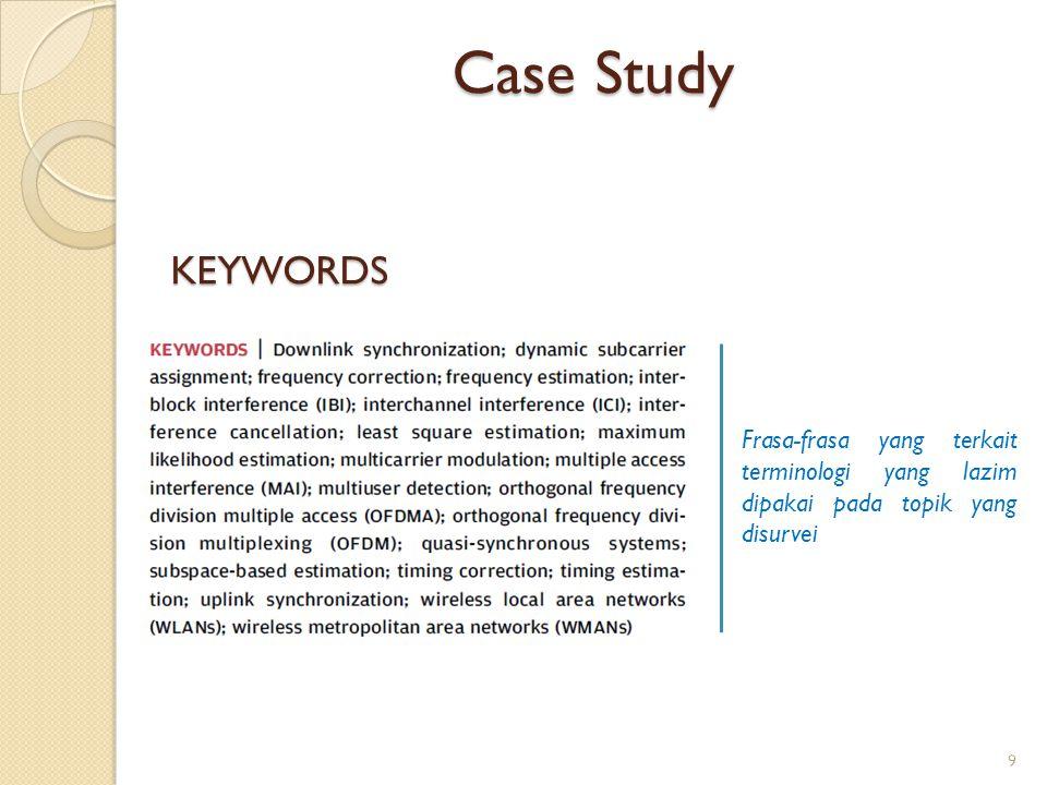 Case Study KEYWORDS.