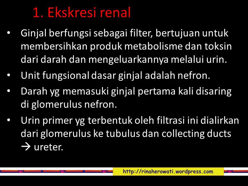 1. Ekskresi renal