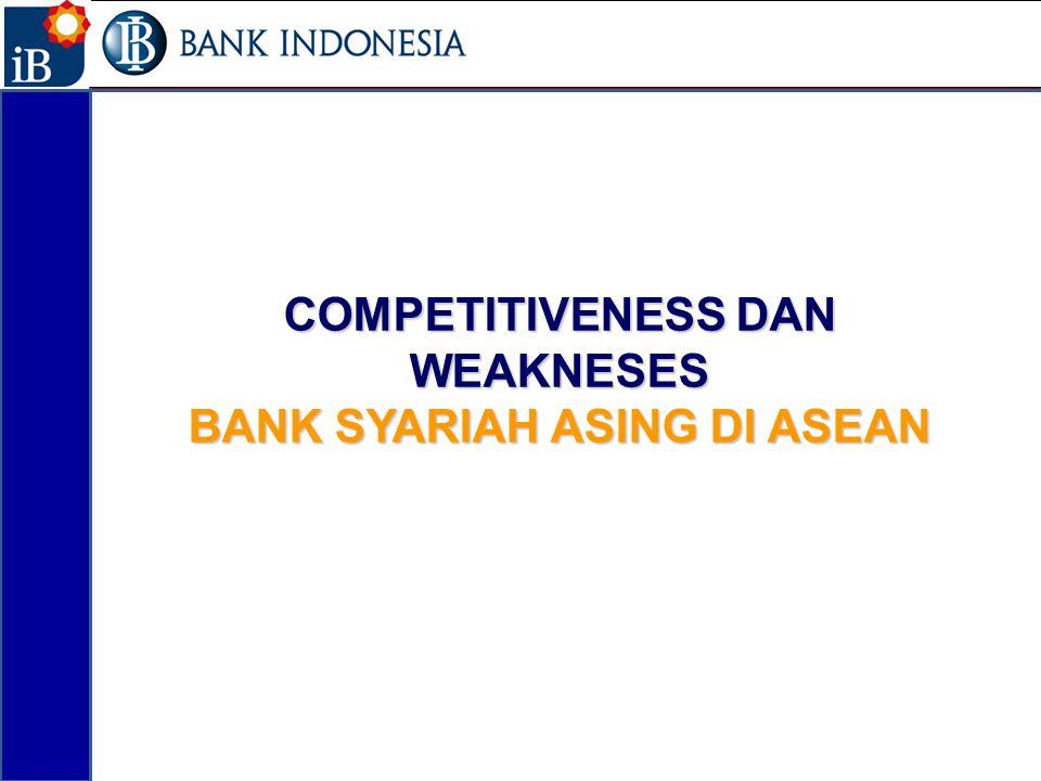 COMPETITIVENESS DAN WEAKNESES BANK SYARIAH ASING DI ASEAN