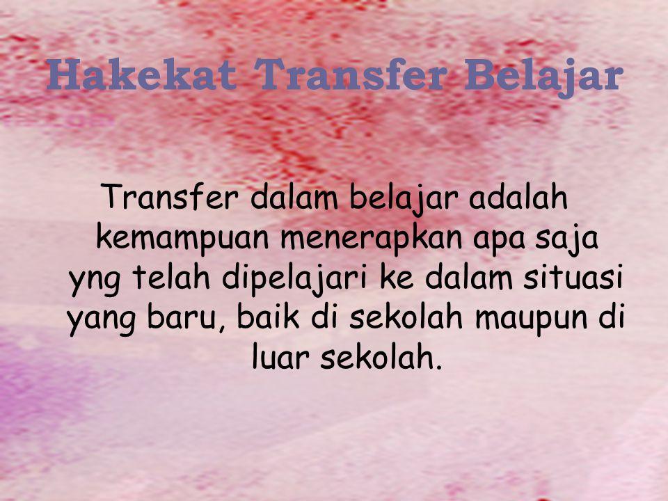 Hakekat Transfer Belajar