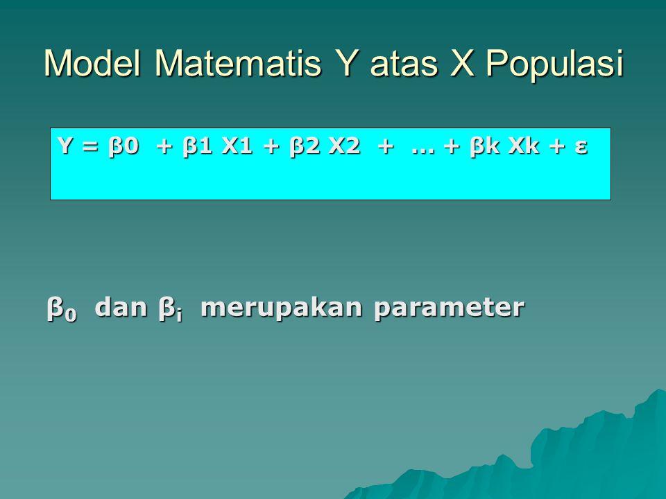 Model Matematis Y atas X Populasi