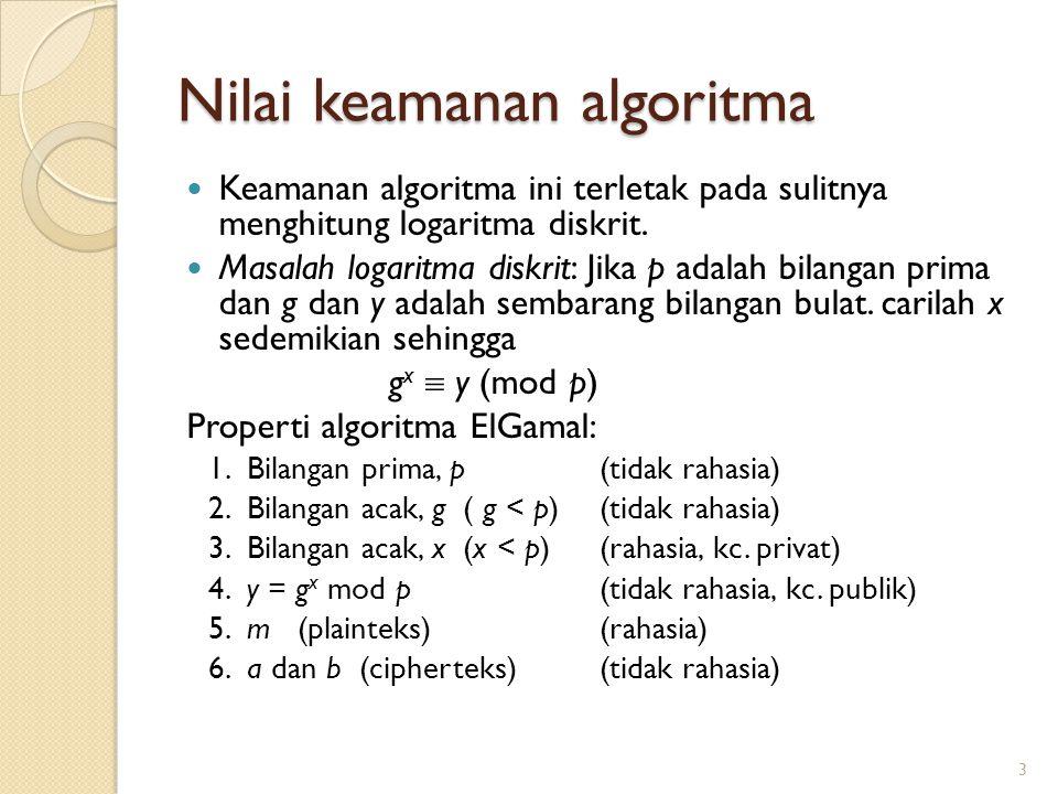 Nilai keamanan algoritma