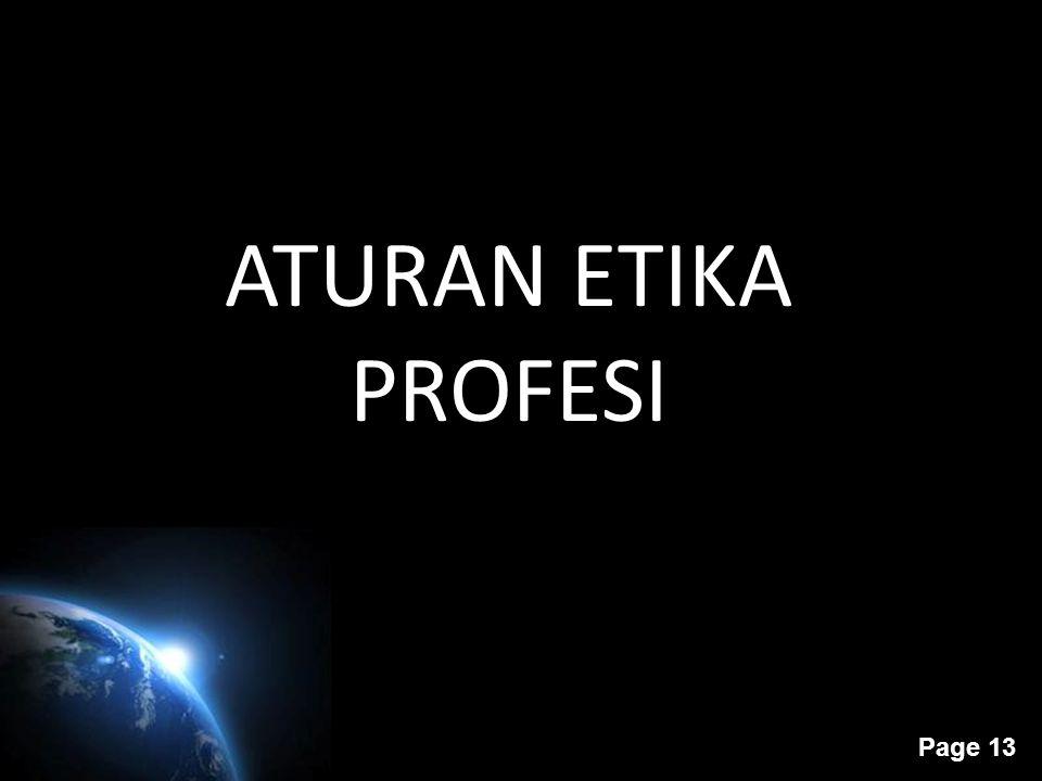 ATURAN ETIKA PROFESI
