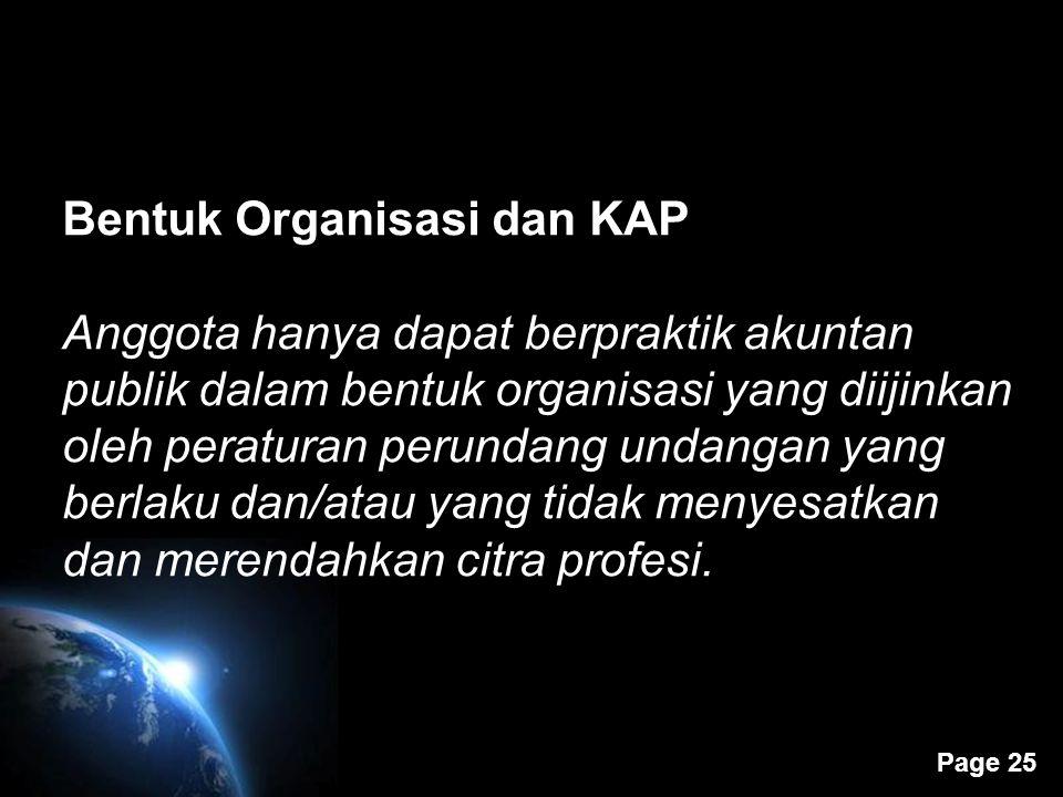 Bentuk Organisasi dan KAP
