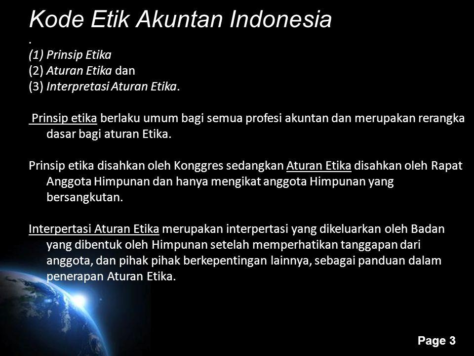 Kode Etik Akuntan Indonesia