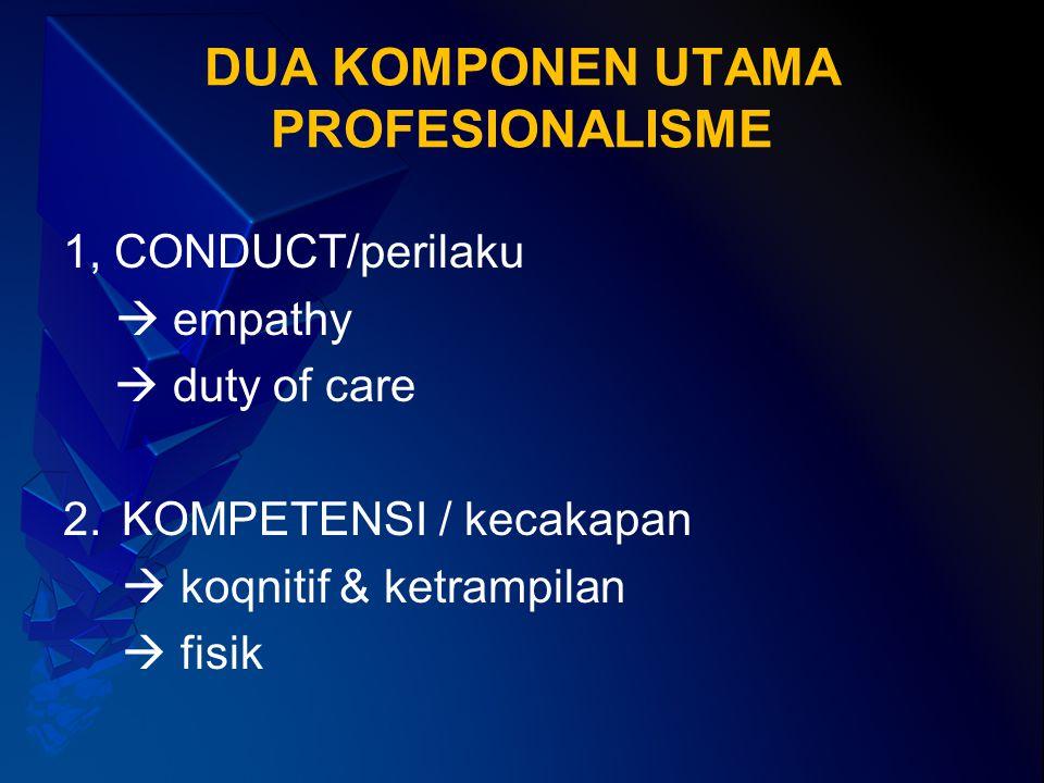 DUA KOMPONEN UTAMA PROFESIONALISME