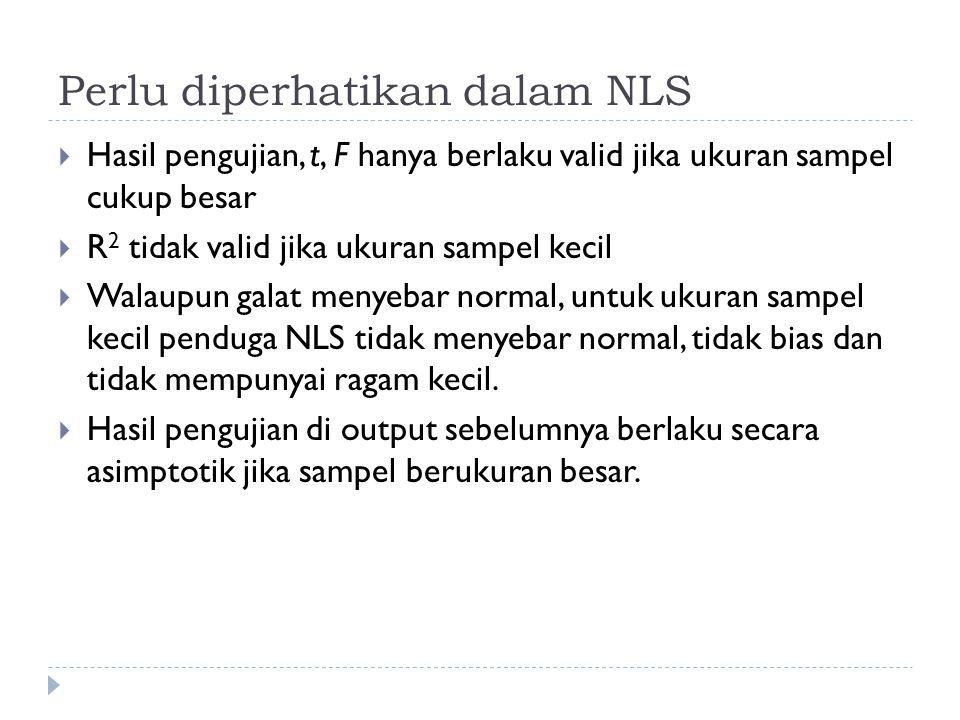 Perlu diperhatikan dalam NLS