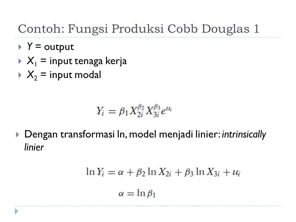 Contoh: Fungsi Produksi Cobb Douglas 1