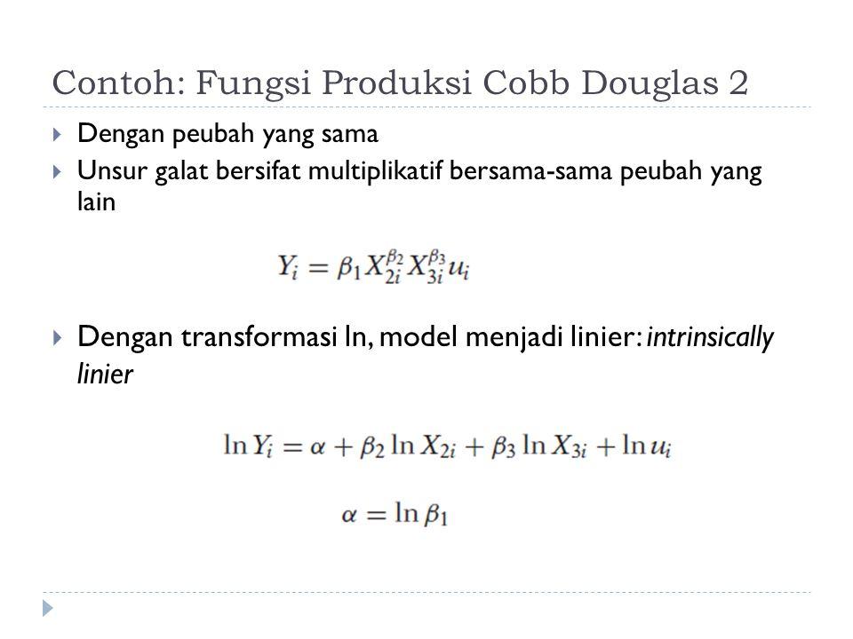 Contoh: Fungsi Produksi Cobb Douglas 2