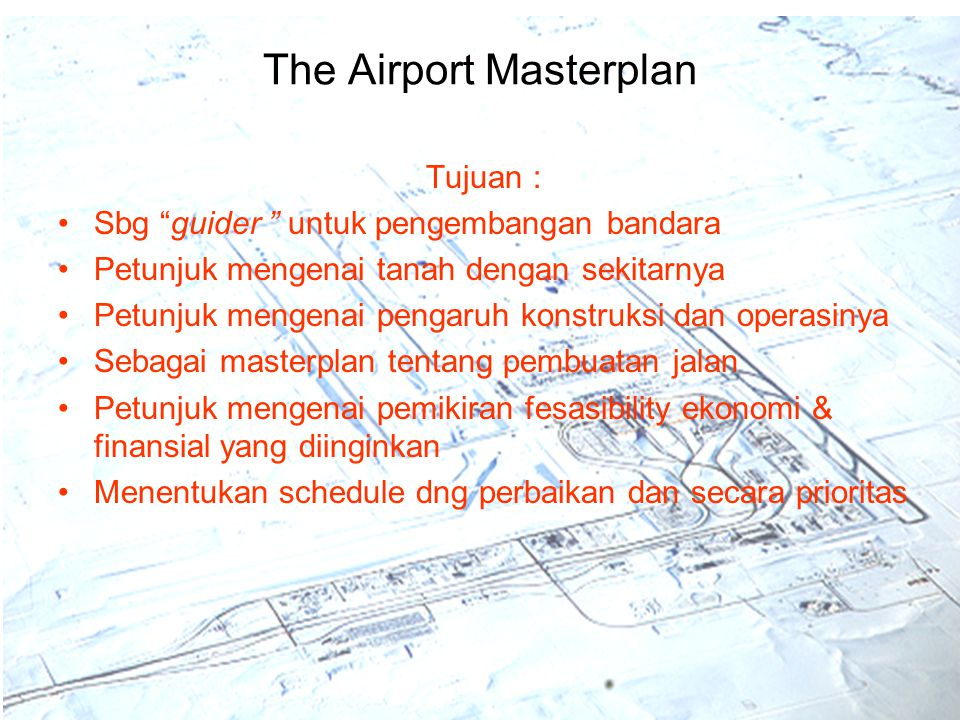 The Airport Masterplan