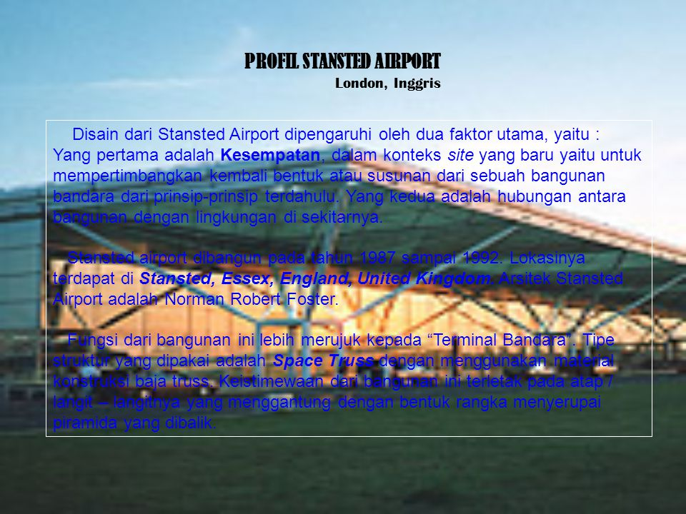 PROFIL STANSTED AIRPORT