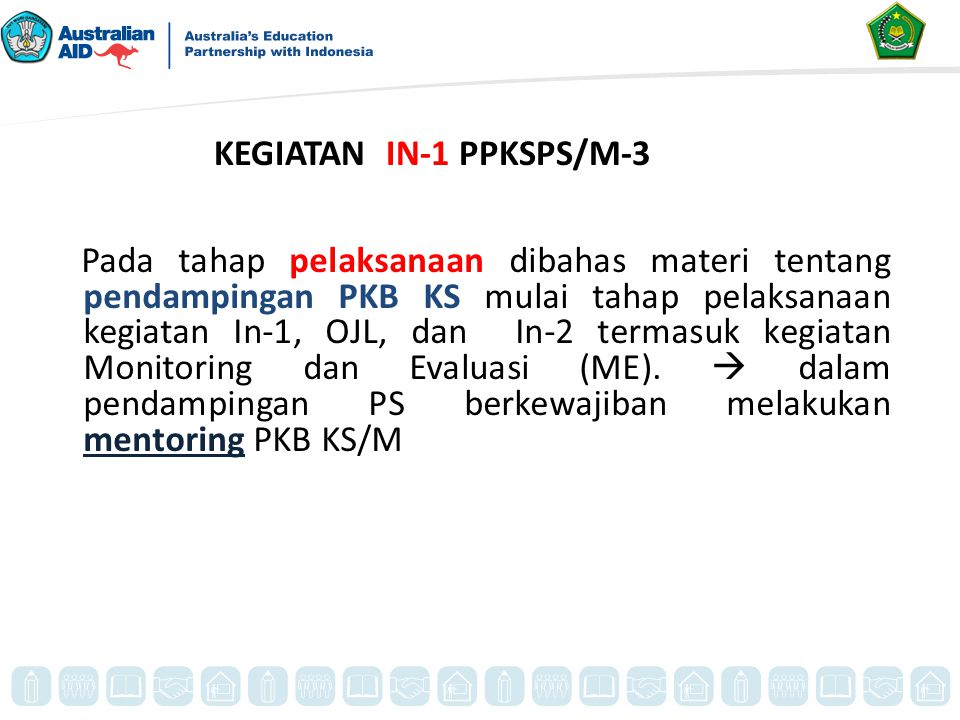 KEGIATAN IN-1 PPKSPS/M-3