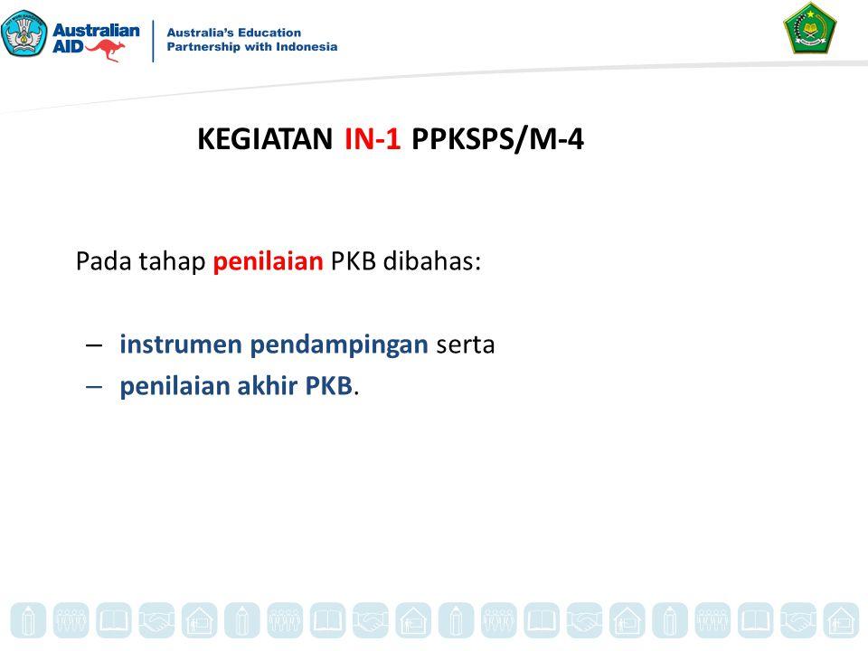 KEGIATAN IN-1 PPKSPS/M-4