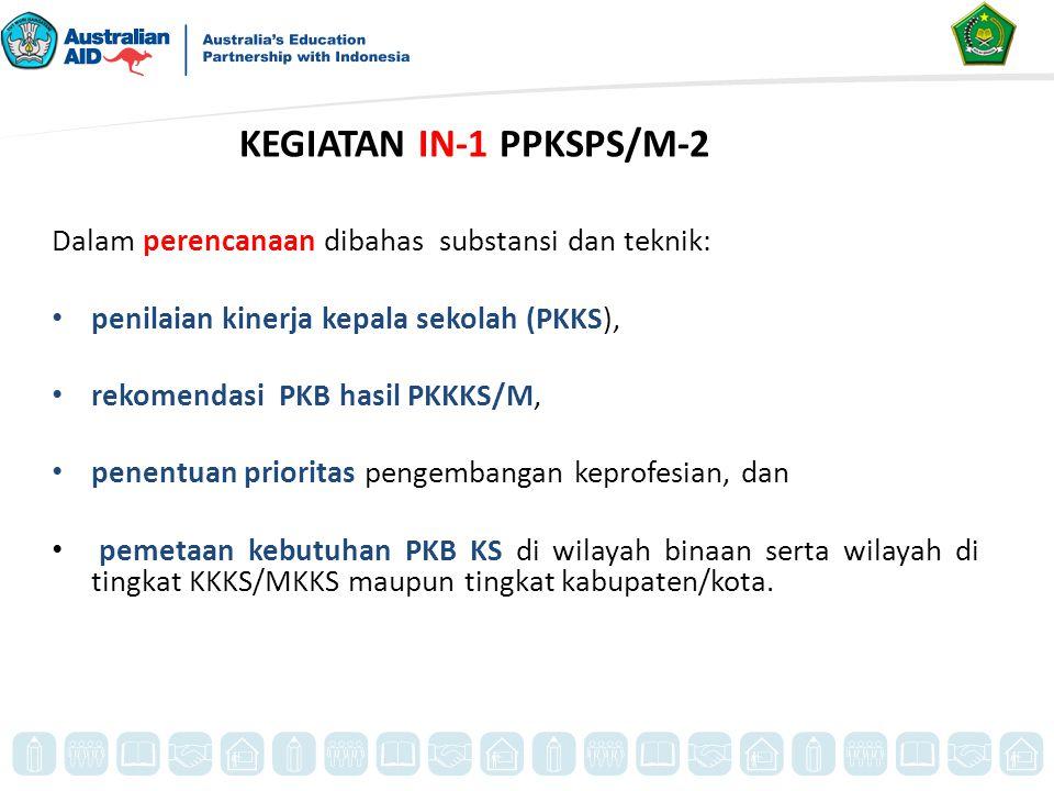 KEGIATAN IN-1 PPKSPS/M-2