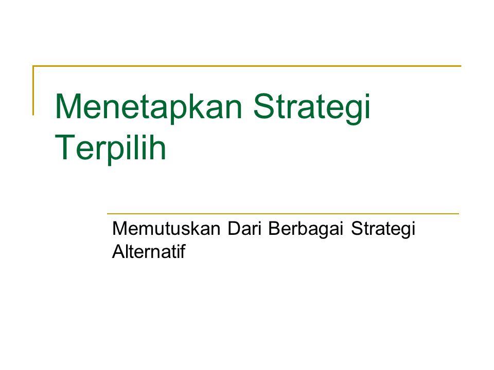 Menetapkan Strategi Terpilih