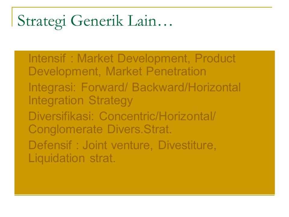 Strategi Generik Lain…