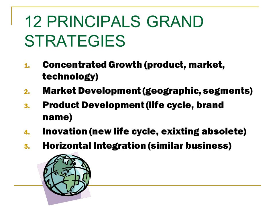 12 PRINCIPALS GRAND STRATEGIES