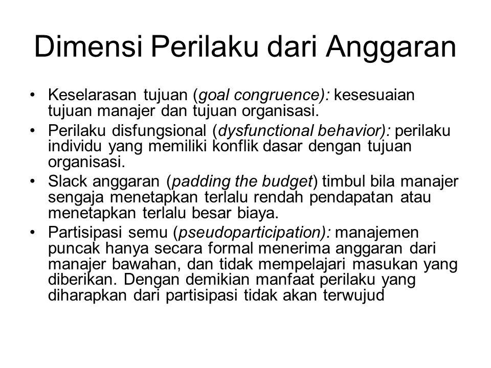 Dimensi Perilaku dari Anggaran
