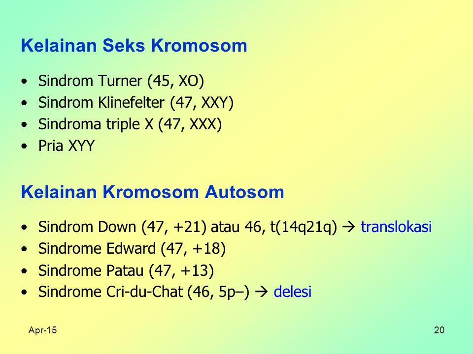 Kelainan Seks Kromosom