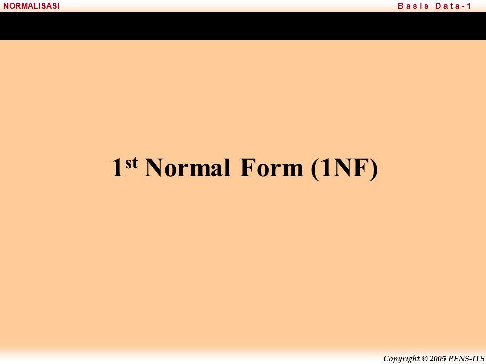1st Normal Form (1NF)