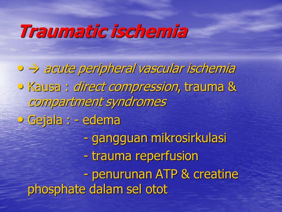 Traumatic ischemia  acute peripheral vascular ischemia