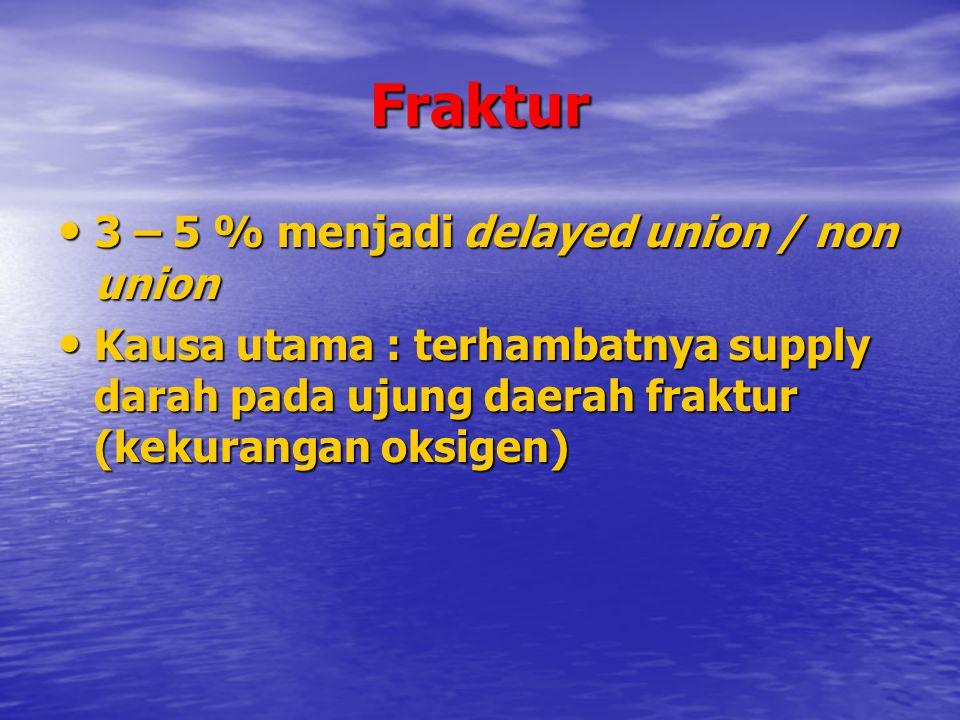 Fraktur 3 – 5 % menjadi delayed union / non union