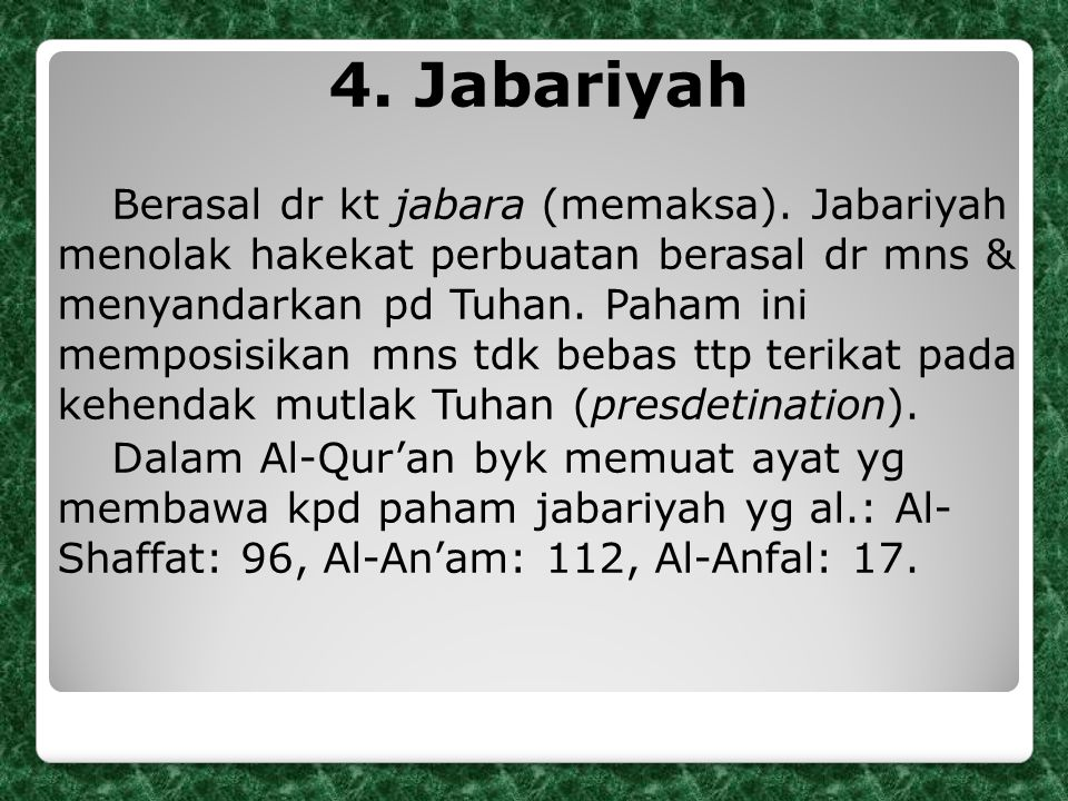 4. Jabariyah