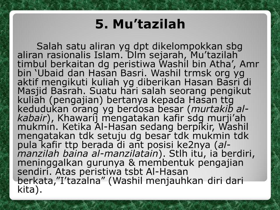 5. Mu'tazilah