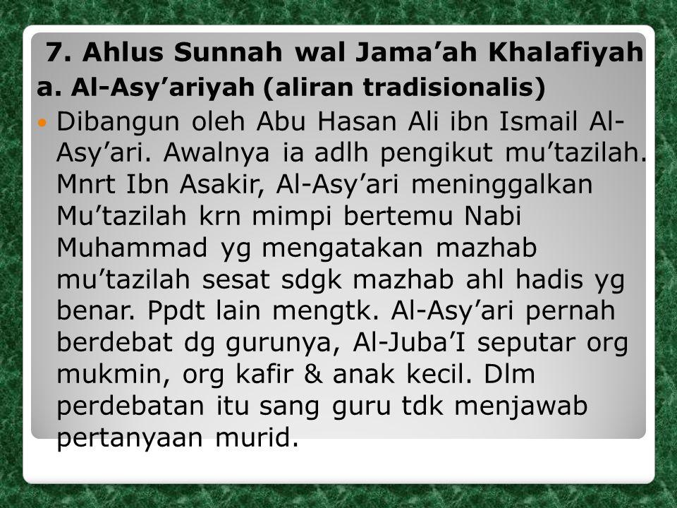 7. Ahlus Sunnah wal Jama'ah Khalafiyah