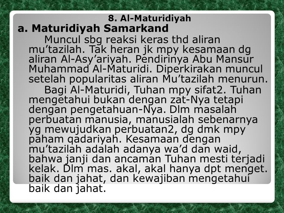 a. Maturidiyah Samarkand