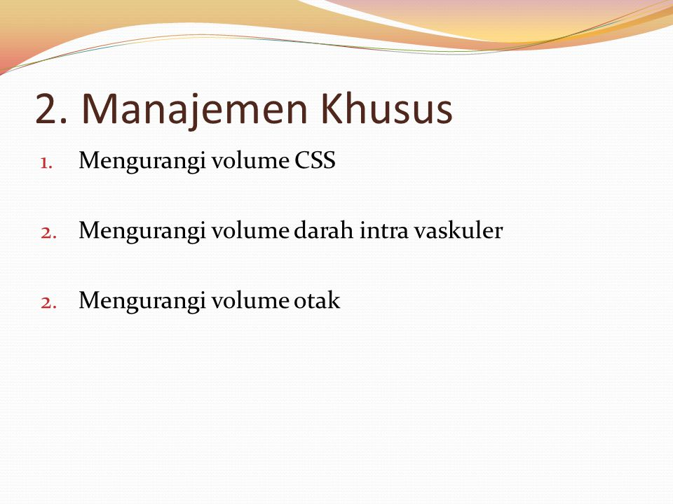 2. Manajemen Khusus Mengurangi volume CSS
