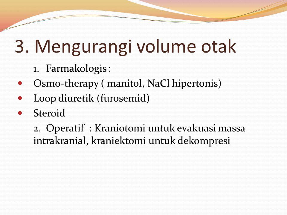3. Mengurangi volume otak
