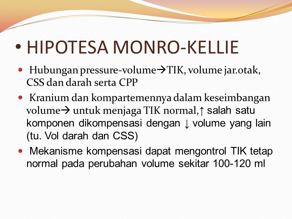 HIPOTESA MONRO-KELLIE