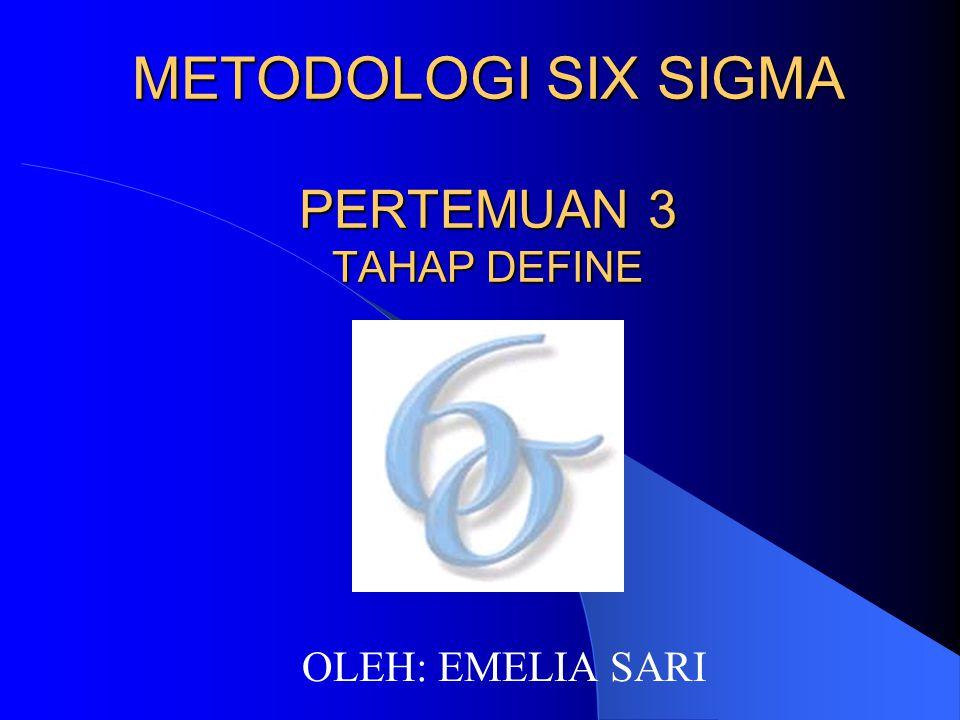 METODOLOGI SIX SIGMA PERTEMUAN 3 TAHAP DEFINE