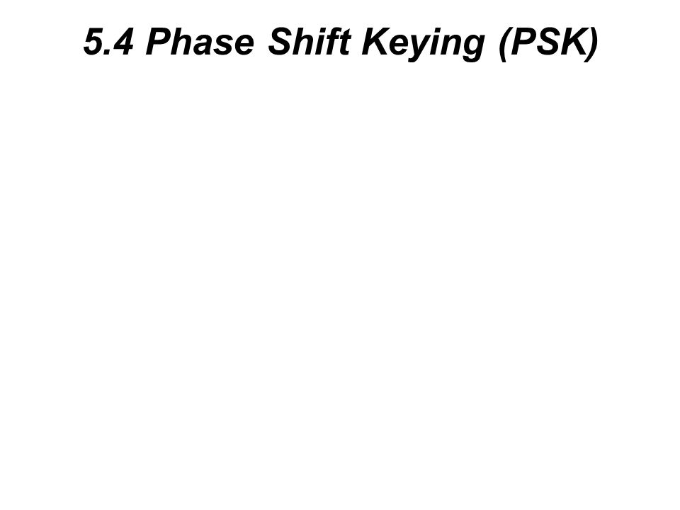 5.4 Phase Shift Keying (PSK)