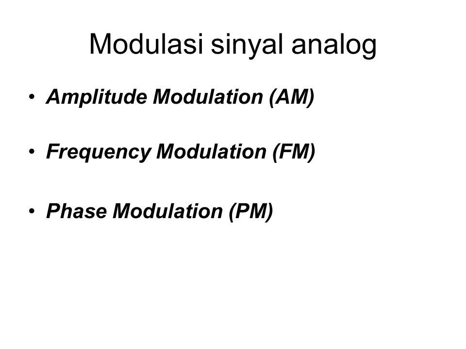 Modulasi sinyal analog